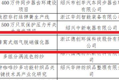 """德创环保""""蜂窝式烟气脱硝催化剂""""被评选为绍兴市发明专利产业化项目"""